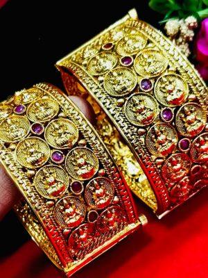 Lakshmi Coin Gold Plated bangle