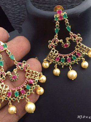 Girl's Fancy Earrings MJ SC46 (1)