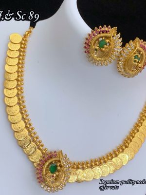 Gold Polish Premium Quality Coin Necklace MN89 (1)