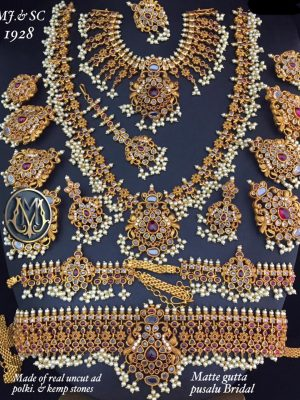 Matte kundan pusalu indian bridal jewellery