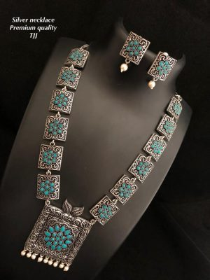 Premium Quality German Oxidised Long Necklace