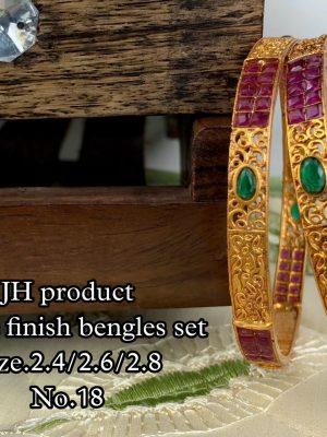 New Design Matte Finish Bangles Set MN18