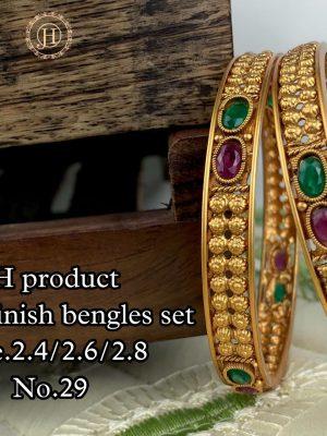 New Design Matte Finish Bangles Set MN29