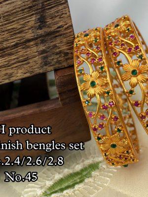 New Design Matte Finish Bangles Set MN45 (2)