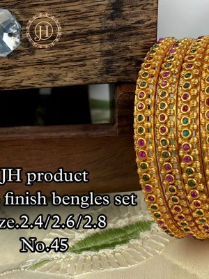 New Design Matte Finish Bangles Set MN45