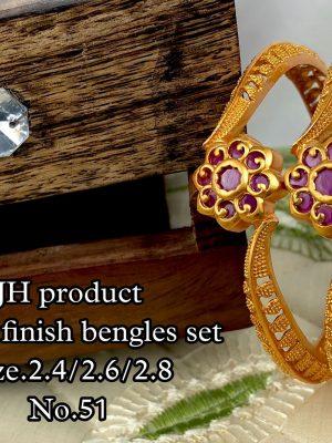 New Design Matte Finish Bangles Set MN51 (2)
