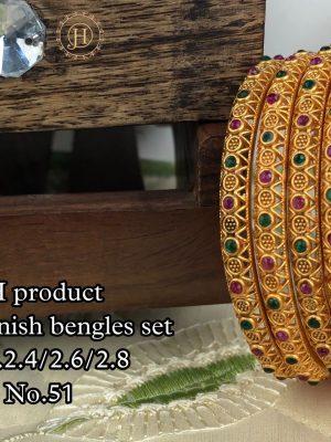 New Design Matte Finish Bangles Set MN51