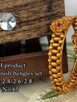 New Design Matte Finish Bangles Set MN65