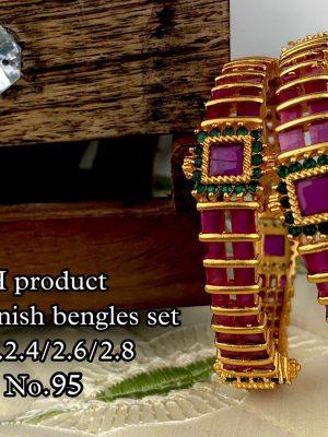 New Design Matte Finish Bangles Set MN95