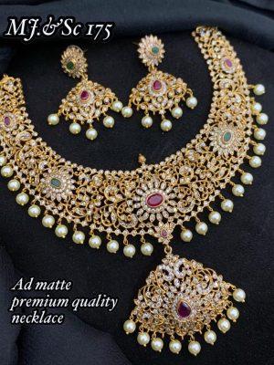 Premium Quality AD Matte Necklace Set MN175