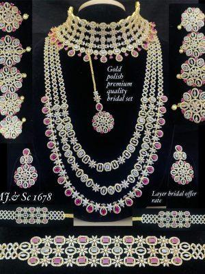 Premium Quality AD Stone Bridal Set MN1678 (2)