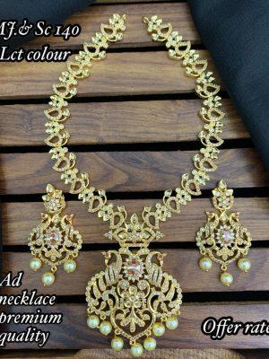 Premium Quality AD Stone Necklace Set MN140 (1)