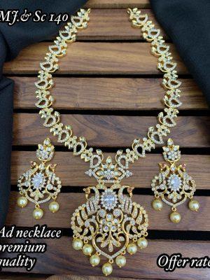 Premium Quality AD Stone Necklace Set MN140 (2)