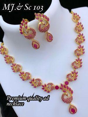 Premium Quality Ad Stone Necklace MN103 (1)