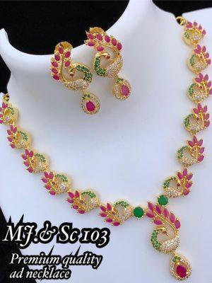 Premium Quality Ad Stone Necklace MN103 (3)
