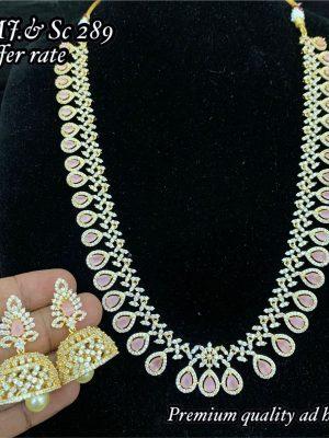 Premium Quality CZ AD Stone Necklace Set MN289(2)