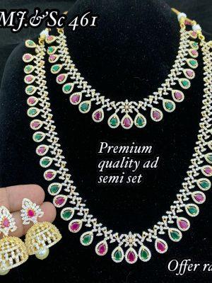 Premium Quality CZ AD Stone Necklace Set MN461 (1)