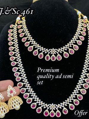 Premium Quality CZ AD Stone Necklace Set MN461