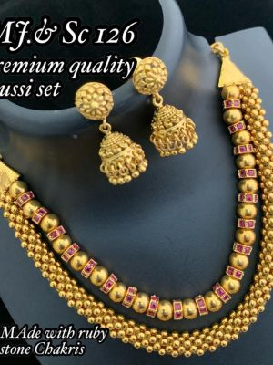 Premium Quality Thussi Set with Ruby Stones MN126