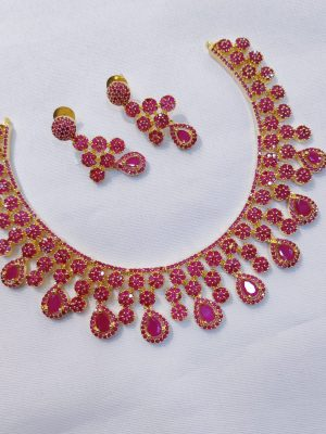 Traditional AD Stone Necklace with Earrings145 (1)
