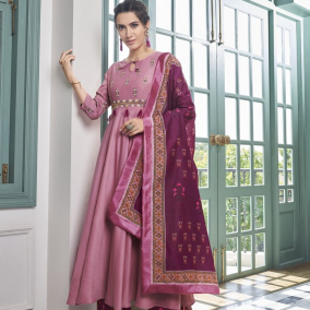 PARTY WEAR PINK PALAZZO SUIT