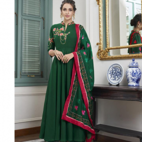 PARTY WEAR GREEN PALAZZO SUIT